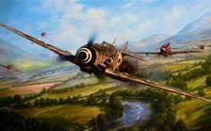Download wallpapers World of Planes, art, Messerschmitt Bf109G-6, WW2, P-47 Thunderbolt, online game, World War II, Luftwaffe, USAF