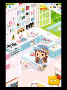 #LinePlay #App #Game #Muriomu La mia prima casetta. Cucina.