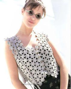 Gold crochet: Beautiful lace vest !!!