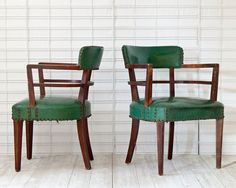 Hey, I found this really awesome Etsy listing at http://www.etsy.com/listing/116716311/green-art-deco-chairs
