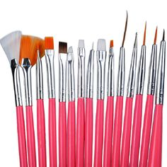 Biutee 15Pcs Nail Art Brushes Design Set Dotting Painting Drawing Polish Brush Pen Tools #Affiliate