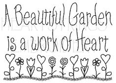 garden saying, make w wire,could add flat marble stones or beads center of hearts and flowers #GardenQuotes