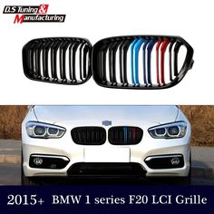 93.83$  Watch here - http://alii6a.worldwells.pw/go.php?t=32691237889 - M-color dual slat front mesh grill grille for bmw 1 series f20 f21 2014 2015 LCI 5-door hatchback vehicle