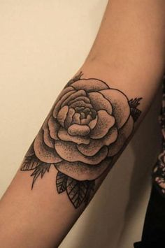 black & grey flower