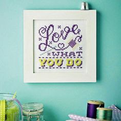 SEW IN LOVE - Available in CrossStitcher Magazine 288