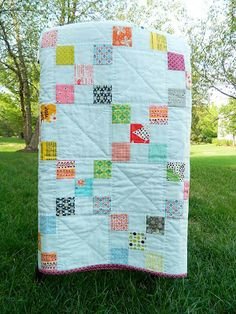 irish chain quilt... 99x- 6 by 6 in. blocks... 50x- 2 by 2 in. 9 patch squares (5.5 ft. by 4.5 ft. appx.)