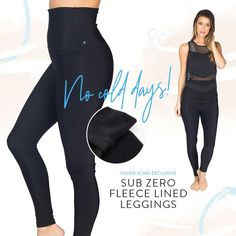 "Baby,  It's Cold Outside💖  #REFRESH💖 Subzero Fleece Lined Leggings Sizes: XXS, XS, S, M, L, XL, 2XL, 3XL Colours: Black Brand: Silver Icing            Fleece Lined, performance leggings, signature Muffin Top Free Extra High Fold Over Waistband, 7-12"" rise depending on how you adjust fold over waistband, 8 Way Stretch * SI Exclusive * Made in USA"