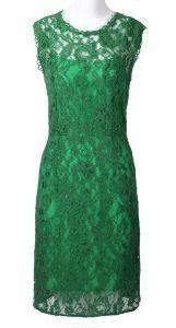 Pretty emerald dress.