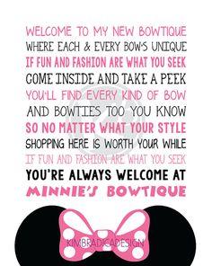 Minnie's Bowtique Song Subway Art 8x10 Digital by KimBradicaDesign, $10.00
