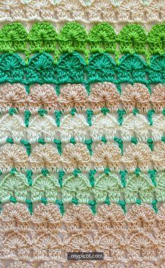 Crochet Shell Stitch Tutorial - (mypicot)