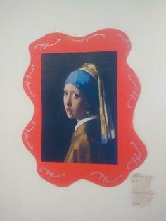 Schilderijen uit de gouden eeuw tentoonstellen. Hier een lijst van papier