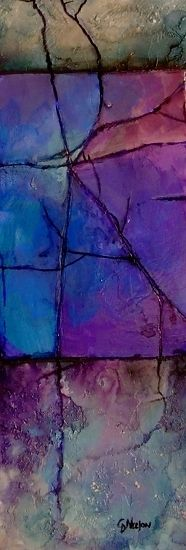 Lavender Shale, 11077 by Carol Nelson mixed media ~ 11.5 x 4