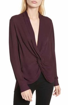 Twist Front Silk Blouse by L'Agence