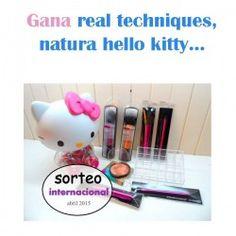 Gana real techniques,natura hello kitty ^_^ http://www.pintalabios.info/es/sorteos-de-youtube/view/es/98 #Internacional #Sorteo #Maquillaje