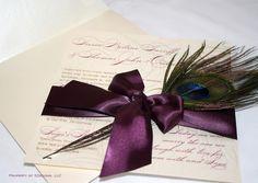 Peacock Wedding Invitations - Real feather - No pocket Peacock Wedding Invitations, Wedding Stationary, Wedding Invitation Cards, Invitation Ideas, Plan My Wedding, Our Wedding, Wedding Planning, Dream Wedding, Wedding Ideas