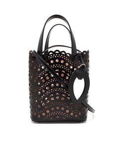 AZZEDINE ALAÏA Leather Laser-Cut Bucket Bag
