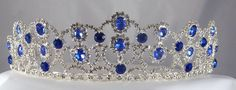 The Blue Sapphire Royal Empress Rhinestone Beauty Pageant Queen, Princess, Crown Tiara