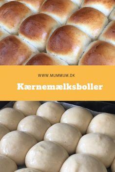 Store, bløde boller. Opskrift fra www.mummum.dk