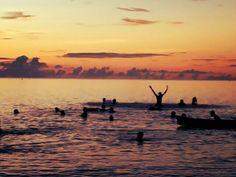 Sunset on Ngurbloat Beach, Kei Island, Indonesia.