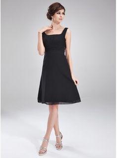 Special Occasion Dresses - $114.99 - A-Line/Princess Square Neckline Knee-Length Chiffon Cocktail Dress With Ruffle Bow(s)  http://www.dressfirst.com