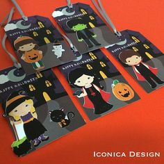 Halloween Tags I used for our Trick Or treating Day !! #halloween #halloweenweekend #cutetags #halloweentags #halloweenfavortags # trickortreat #gifttags #printables #iconicadesign #kiddos #pumpkin #november #witch #vampire #frankie #cutetags #madewithstudio