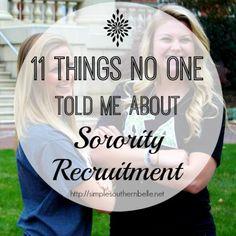 54 Desirable Recruitment images | Sorority life, College sorority