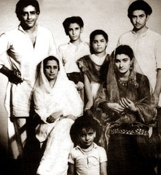 The Prithviraj Kapoor family tree. With sons Raj, Shammi, Shashi and daughter