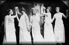 Agatha -  dancing class in Torquay (she's in center)