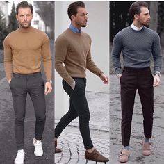 Getns with casual style Super Moda, Best Business Casual Outfits, Men Dress, Men Sweater, Men Casual, Mens Fashion, Clothes, Grown Man, Autumn Style