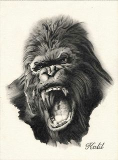 traditional king kong tattoo images galleries with a bite. Black Bedroom Furniture Sets. Home Design Ideas