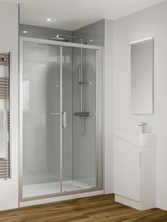 If sleek, minimalist design is your thing then check out our Reflect Collection. A stunning, lower cost, easier to fit alternative to glass which is perfect for installation in shower enclosures. Glass Tile Bathroom, Bathroom Wall Panels, Bathroom Bath, Master Bedroom Bathroom, Bathroom Interior, Small Toilet Room, Mansion Interior, Bathroom Trends, Home Comforts