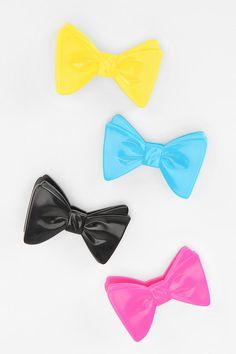 Bow bag clips. Cute.