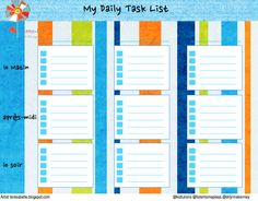 daily task list. Instead of being overwhelmed by a hectic schedule ...