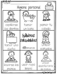 Higiene Personal by Learning Palace Kindergarten Worksheets, Worksheets For Kids, Activities For Kids, Body Preschool, Preschool Learning, Teaching, Hygiene Lessons, Healthy Habits For Kids, Word Pictures