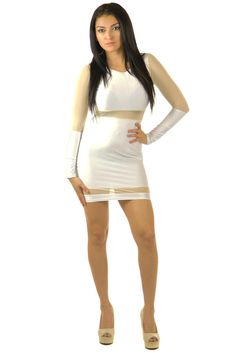 Show Some Skin White Dress | Sexyback Boutique