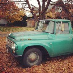old mint green truck