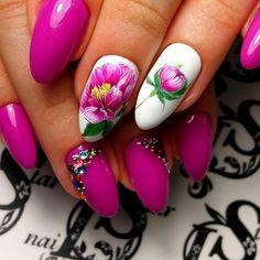 Ногтеманияк | Маникюр, ногти, идеи дизайна Exotic Nails, Spring Nails, Summer Nails, Flower Nails, Coffin Nails, Pretty Nails, Fancy Nails, Cute Nails, Elegant Nail Designs