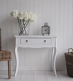 Daisy White Hall Table