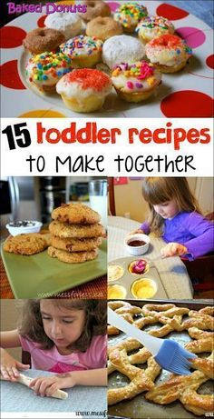 15 Toddler Recipes to Make Together - Cooking with toddlers can be fun and educational. Here are some easy recipes to make with kids that have all been kid tested and approved! # Baking with kids 15 Amazing Recipes for Toddlers Baby Food Recipes, Snack Recipes, Toddler Recipes, Fun Recipes For Kids, Kid Recipes, Kids Cooking Recipes Easy, Healthy Cooking, Chicken Recipes, Dishes Recipes