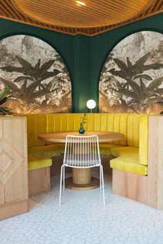 View the full picture gallery of Kai La Caleta - Restaurant Coffee Shop Interior Design, Italian Interior Design, Coffee Shop Design, Commercial Interior Design, Cafe Design, Store Design, Restaurant Zen, Turkish Restaurant, Resturant Interior
