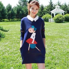 33.00$  Watch here - http://ali9lw.worldwells.pw/go.php?t=32701468730 - 2016 new autumn and winter fashion maternity shirt printing fake two-piece plus thick velvet long-sleeved dress pregnant women 33.00$
