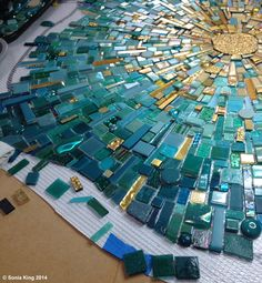 Light reflectivity off 'VisionShift', a new mosaic installation by Sonia King