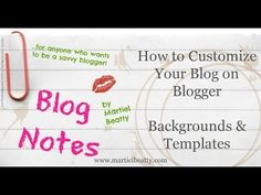 How to Customize Your Background or Template on Blogger
