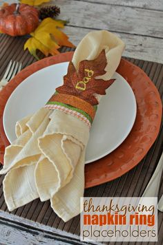 Thanksgiving Napkin Ring Placeholders