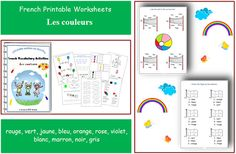 Learn Colours in French with School Activity WorksheetsFun