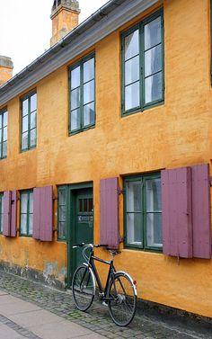 The Yellow Houses - Copenhagen, Kobenhavn - Nyboder http://www.visitcopenhagen.com/