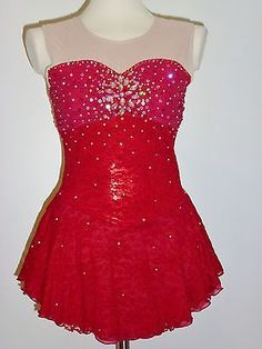 BEAUTIFUL ICE SKATING DRESS CUSTOM MADE TO FIT