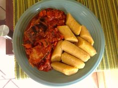 Ripe plantains and fish stew