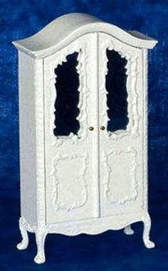 White Armoire | Mary's Dollhouse Miniatures