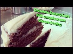 Chocolate Banana Cake With Cream Cheese Frosting